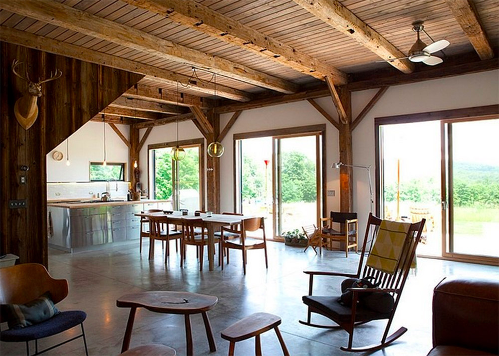 The Bovina Residence A 19th Century Wooden Barn Gets A