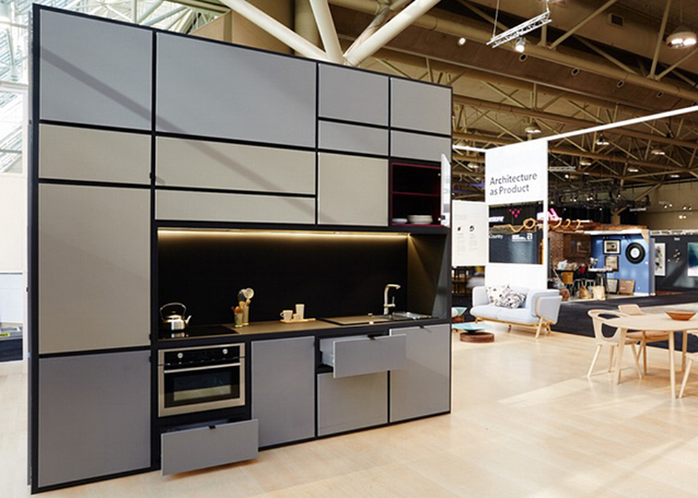 Cubitat sleek plug and play unit shelters a kitchen for Kitchen units in bedroom