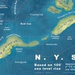 Jeffrey Lin, global warming map, NYC sea level