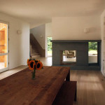 OBRA Architects, wooden home, Centrifugal Villa, guest house, Southampton, post-and-beam home, circular plan