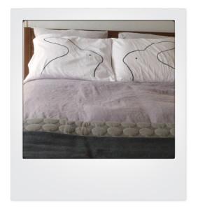 bunny pillows, modern bunny pillows