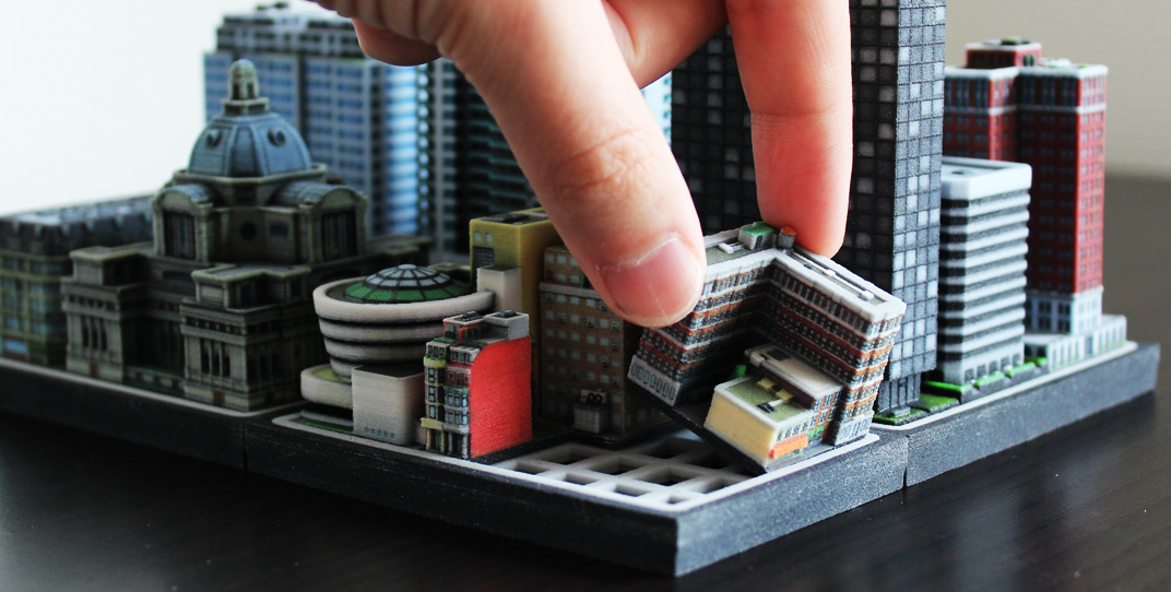 Build your own urban utopia with ittyblox 39 s ultra detailed for Miniature architecture