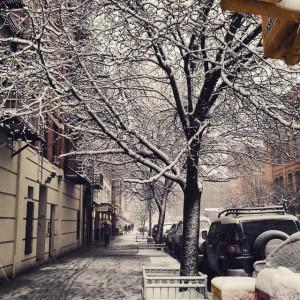 #eastharlem #snow #spring #NYC #elbarrio #spanishharlem #nofilter