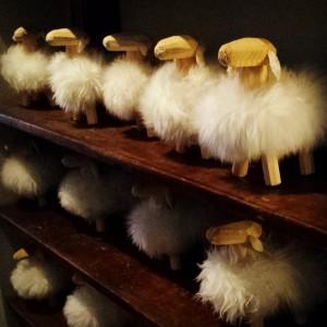 Fluffy sheep galore at Kaffe 1668 #design #tribeca #coffeeshop #kaffe1668…