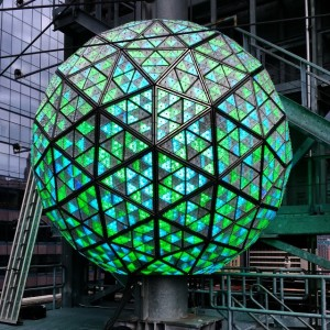 @waterfordcrystal Times Square Ball is green for St. Patrick's Day…