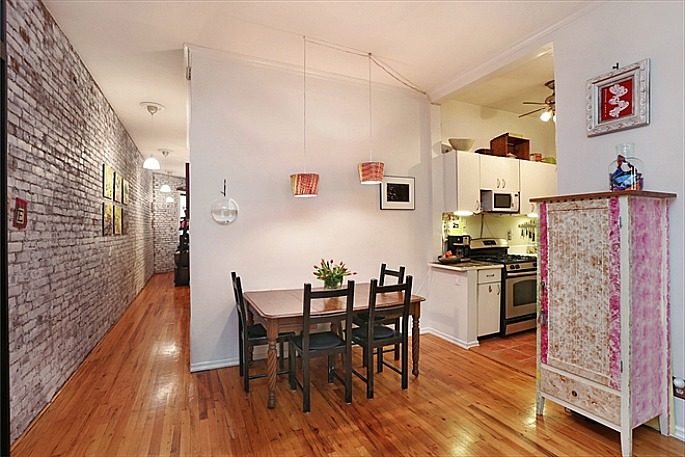 316 West 82nd Street, prewar details, exposed brick, decorative fireplace
