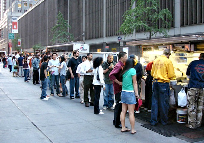 Halal Guys, NYC food cart, lunch truck