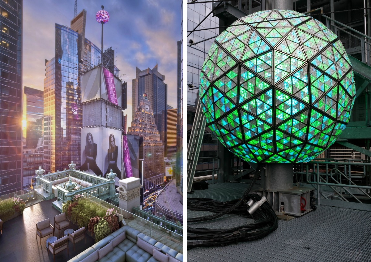 St. Cloud at the Knickerbocker, Knickerbocker Hotel, Times Square ball, Waterford Crystal