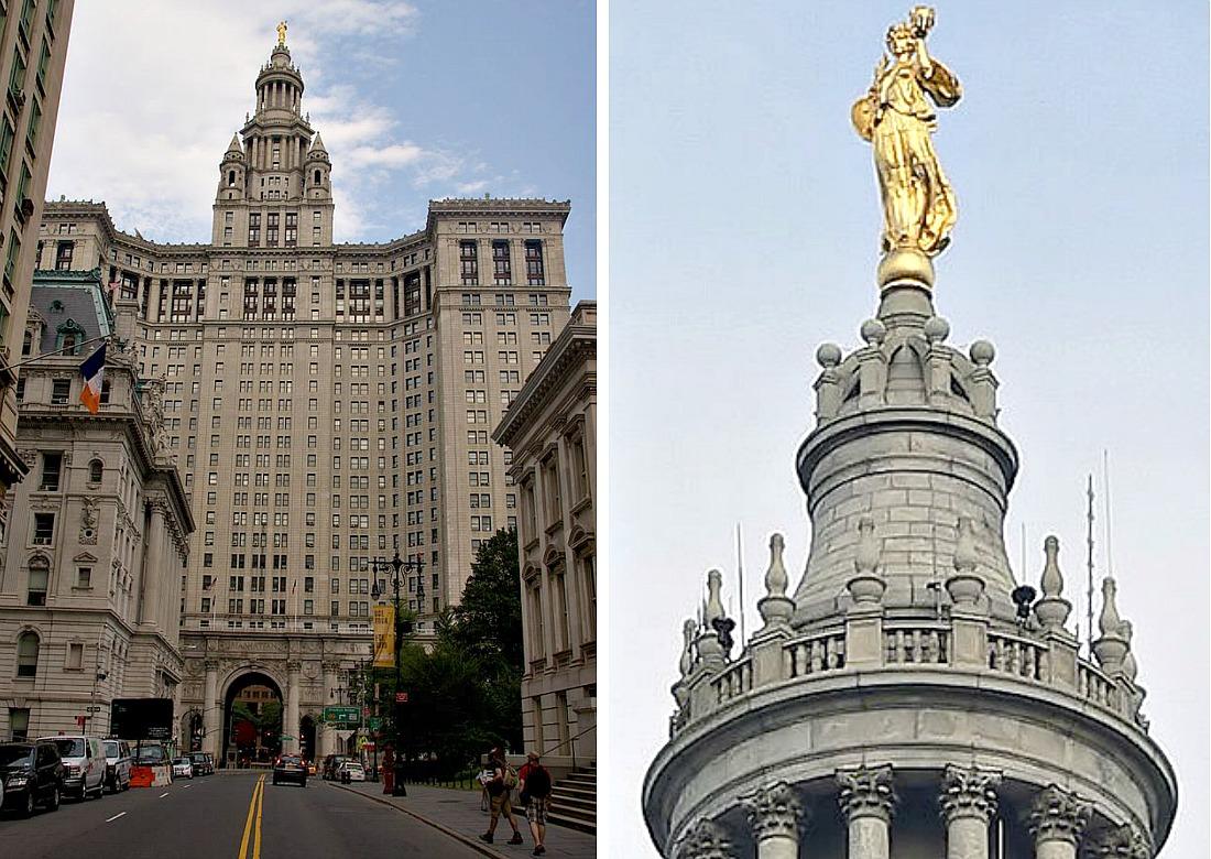 Manhattan Municipal Building, McKim Mead and White, Civic Fame statue