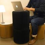 Mike Mak, honeycombe cardboard, pop-up furniture, Bookniture, Molo,
