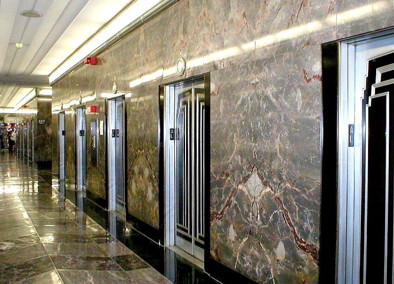 empire state building elevators, NYC Art Deco