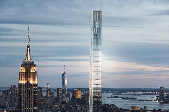 NEW YORK   111 West 57th Street - Steinway Tower   435m ...