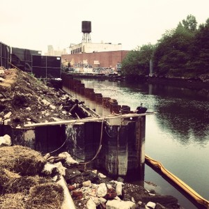 Sea wall construction at the toxic gowanuscanal brooklyn toxic dirtywaterhellip