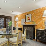 115 East 37th Street, elaborate moldings, curved staircase with illustrations, cherry wood black and gold ceiling