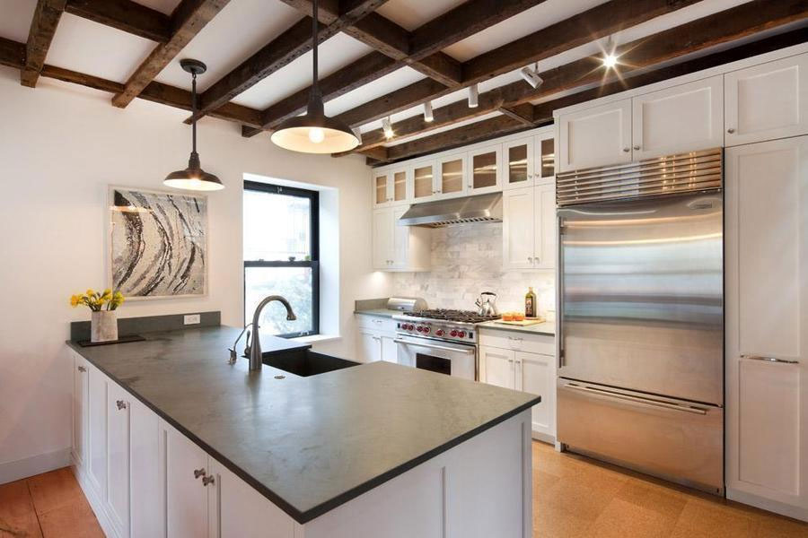different ideas for garage floors - Renovated Carroll Gardens Carriage House es With a
