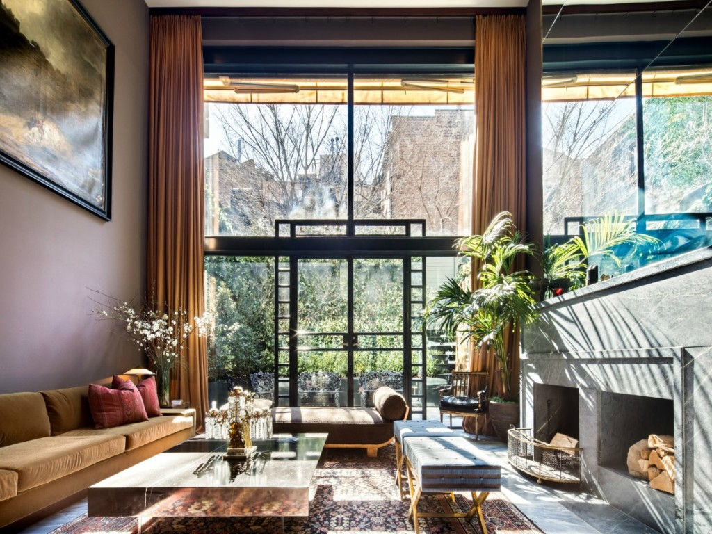 Asking double its 2012 price this brooding west village for Nyc townhouse with garage