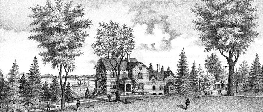 E.B. Morgan House, Aurora New York, Inns of Aurora, Edwin B. Morgan