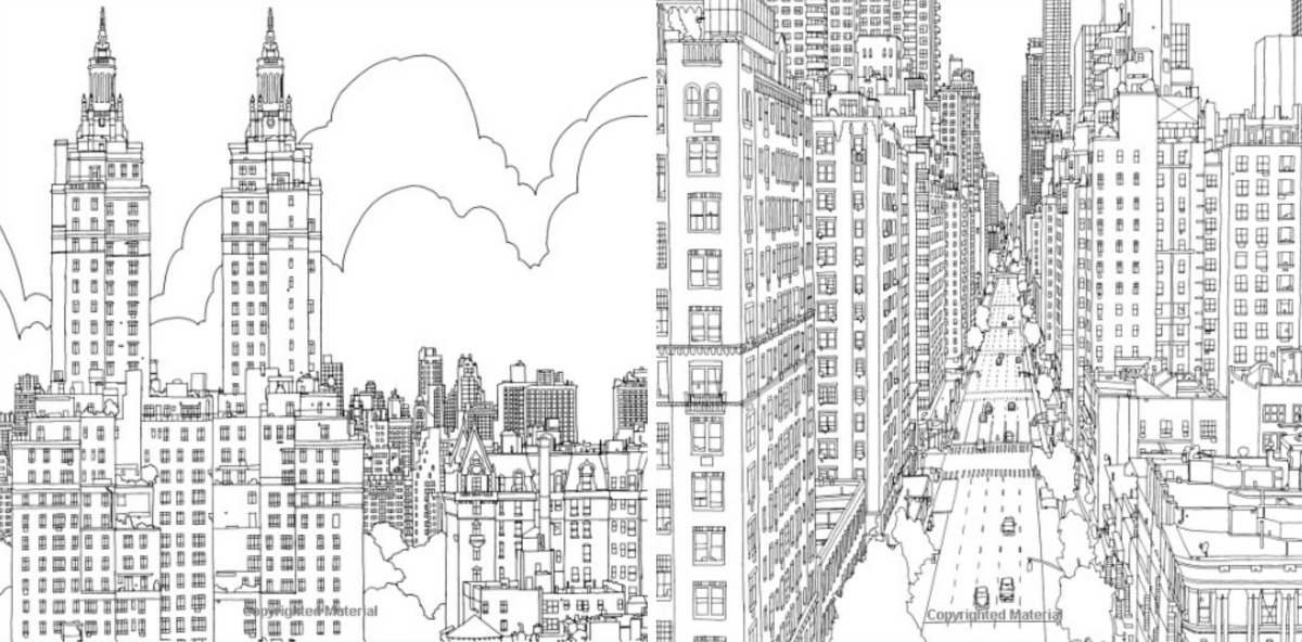 This Architectural Coloring Book Is Made For Adults