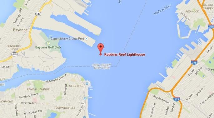 Robbins Reef, Robbins Reef Lighthouse, secret NYC islands