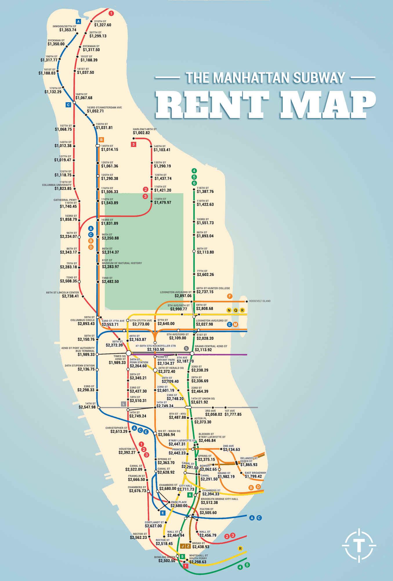 Subway Rent Map