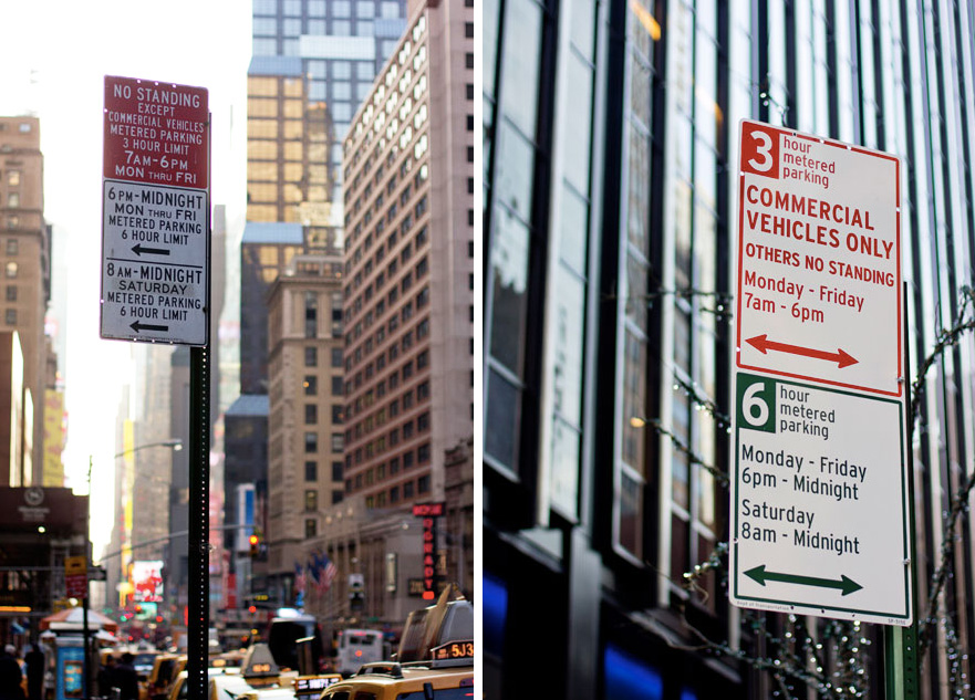 nyc parking signs new and old