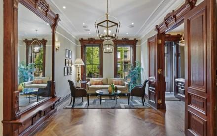 126 Hancock Street, Pure Interior Design of New York, restored woodwork, preserved home