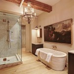 292 Lafayette Street, Elle Decor, ancient Roman tub carved from one piece of marble, custom Robert Ogden light fixture