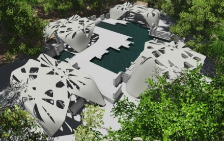 adam kushner, first 3d-printed estate and pool. 3d-printed pool, 3d-printed estate, Gardiner New York , upstate new york, james wolff, d-shape