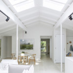 Amee Allsop, house renovation, 80s A-framed house, barefoot lifestyle, Red Dirt Rd House, East Hampton, white interiors, Australian design in NY, all-white interiors
