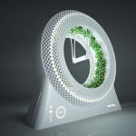DesignLibero, Futuristic design, The Green Wheel, Inspired by NASA, Grow Your Own Food, grow food indoors, LED light, coco fiber vase,