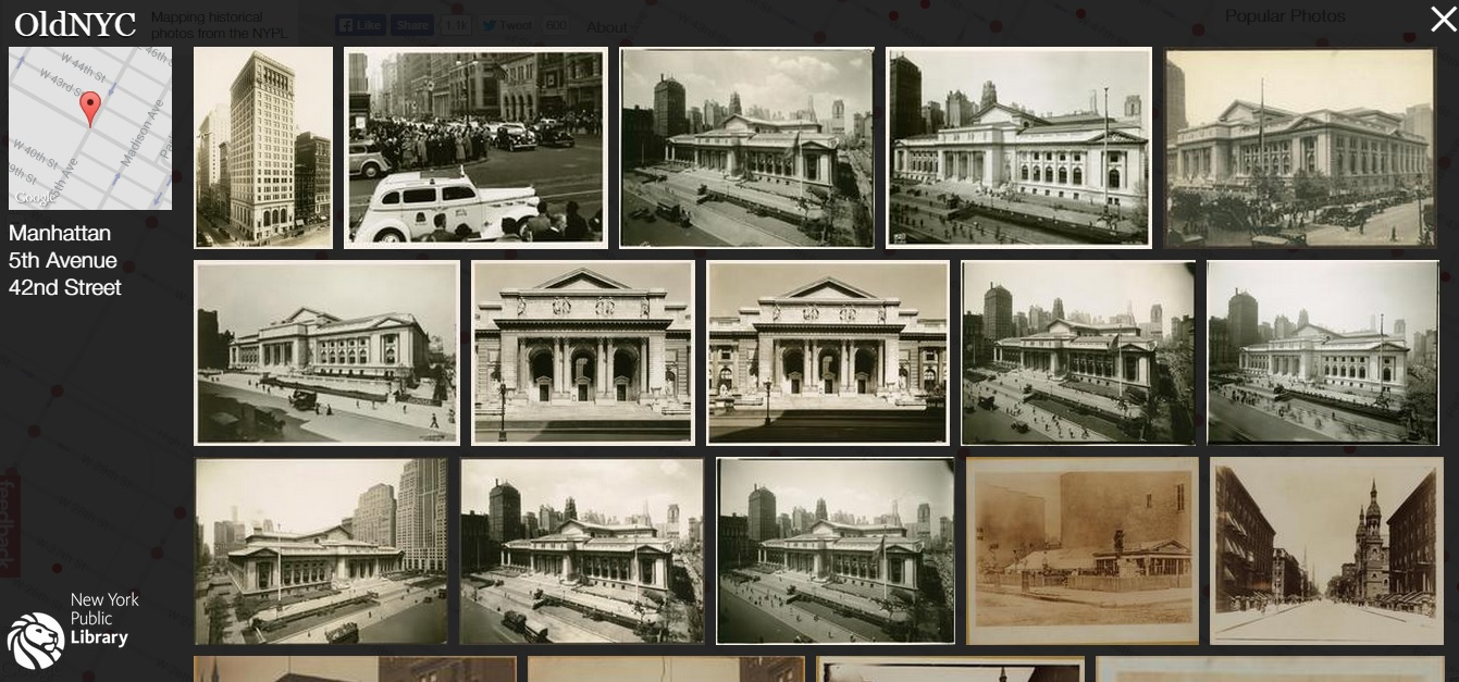 OldNYC, New York Public Library, historic photos NYC