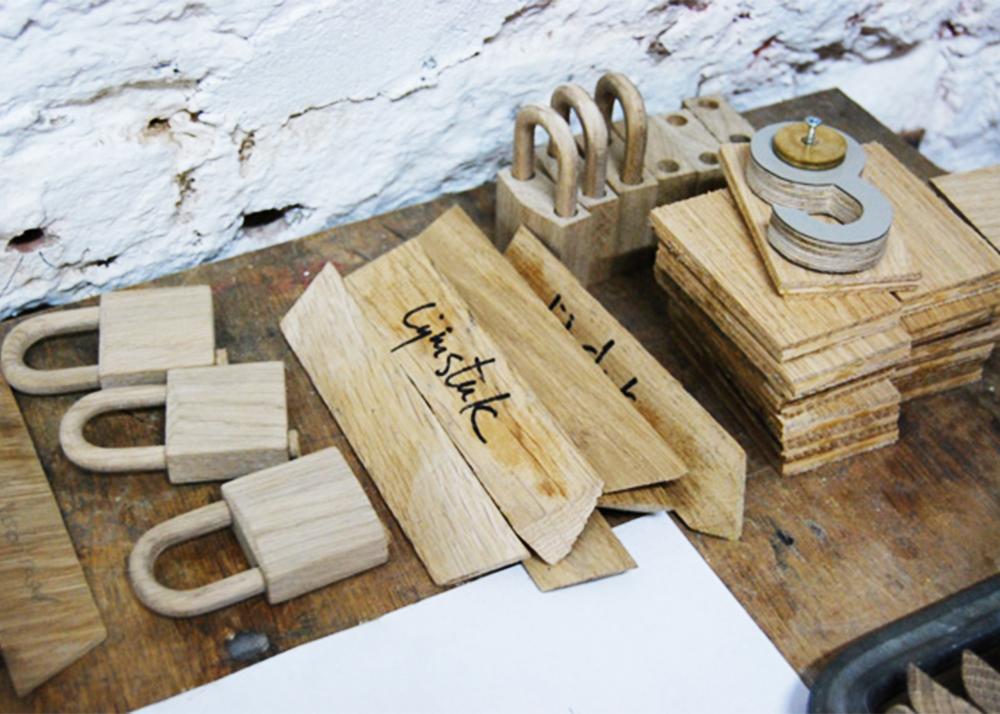 Stephan Siepermann, classic redesign, steel locker, wooden locker, Locky, Oak Wood