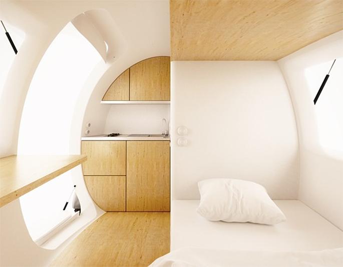 nice architects, ecocapsule, prefab design, off-grid,