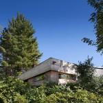 Andre Tchelistcheff, Hudson Valley Spa, wooden sauna, Hudson River views, burnt-orange cedar planks, warm cozy space
