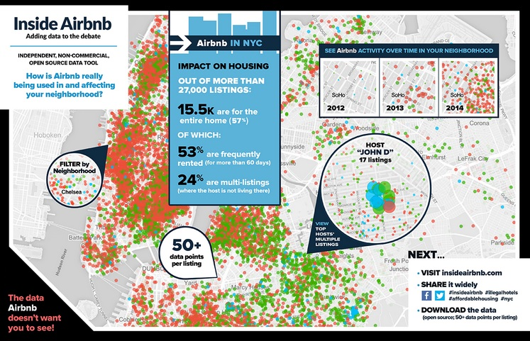 Inside Airbnb, NYC Airbnb, Airbnb map