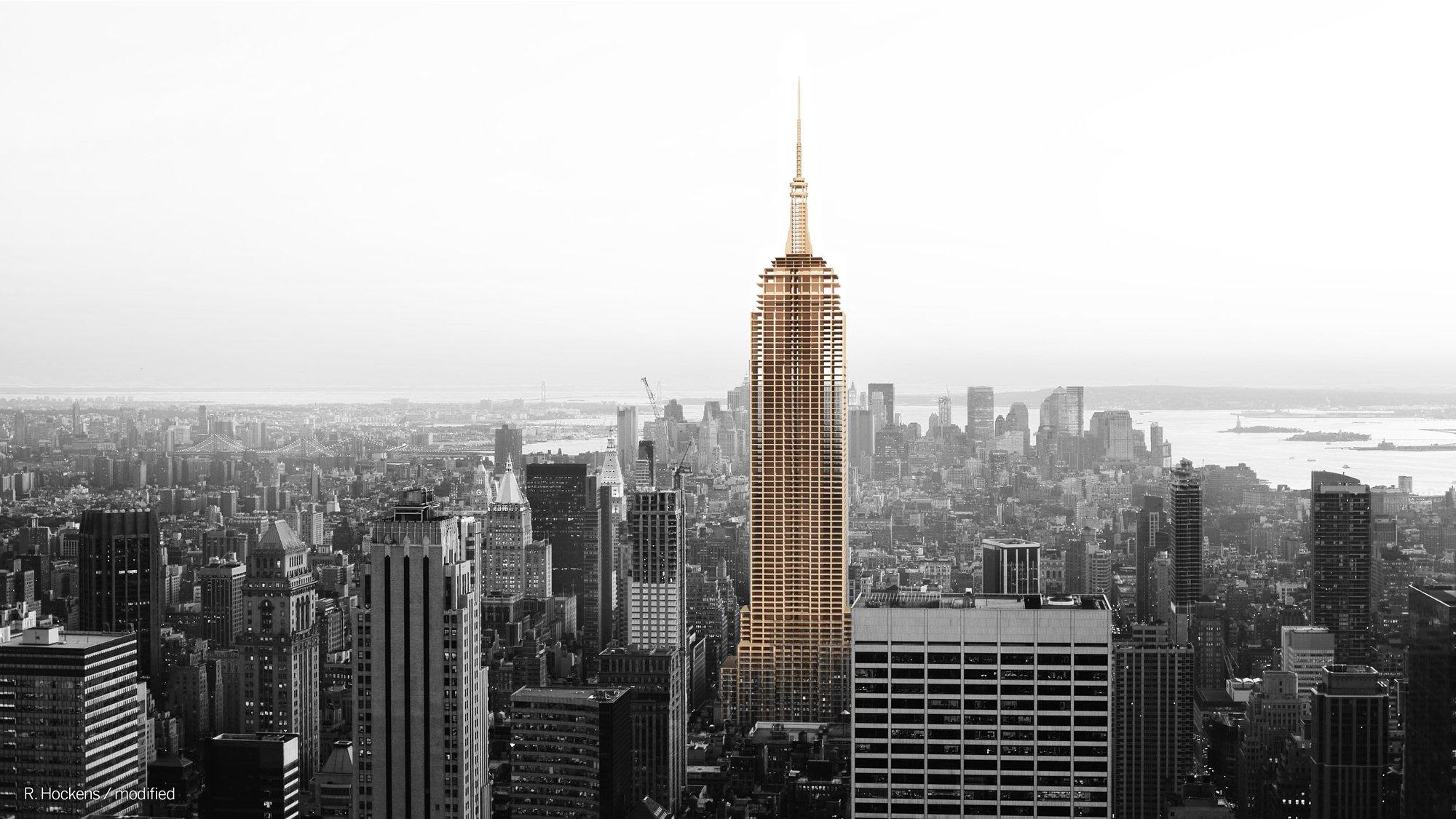 Metsä Wood, Empire State Building, wooden skyscrapers