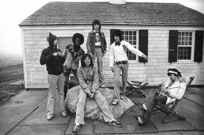 The Rolling Stones at Andy Warhol's Montauk Estate 1975