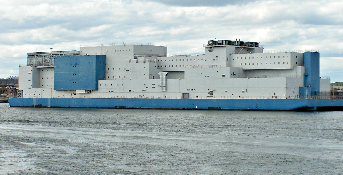 Vernon C. Bain prison barge, Rikers Island, NYC Department of Corrections, prison ship