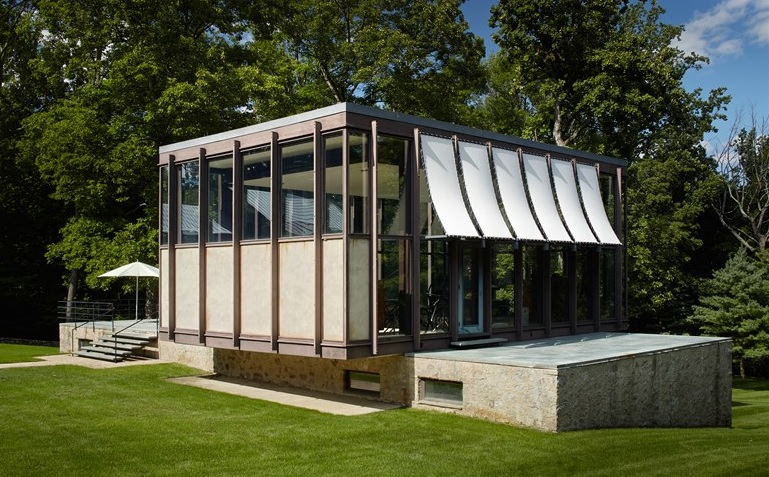 Modern houses interior - Following A Meticulous Renovation Philip Johnson S Wiley