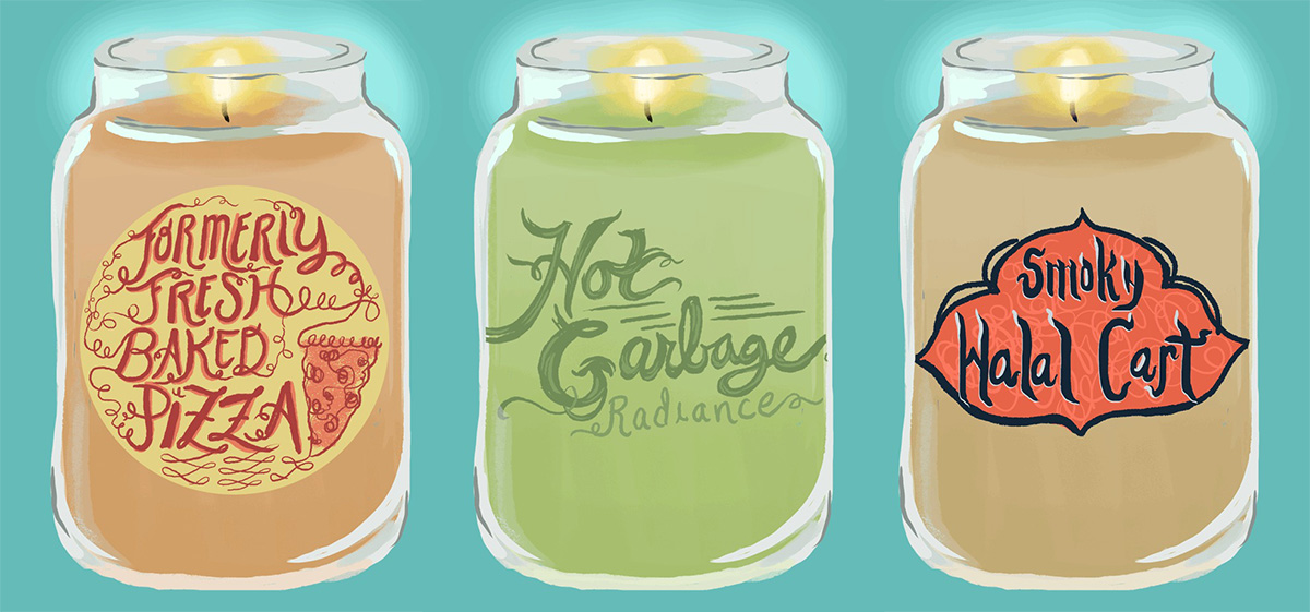 NYC summer candle scents, smells of NYC