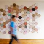 Dear Human's hexagonal recycled paper tiles Wallpapering