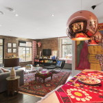 90 Hudson Street, living room, tribeca, loft,