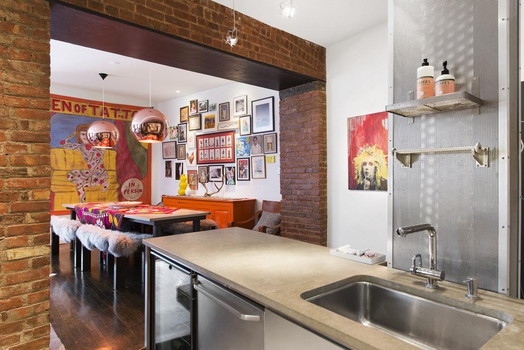 90 Hudson Street, Tribeca, kitchen, loft