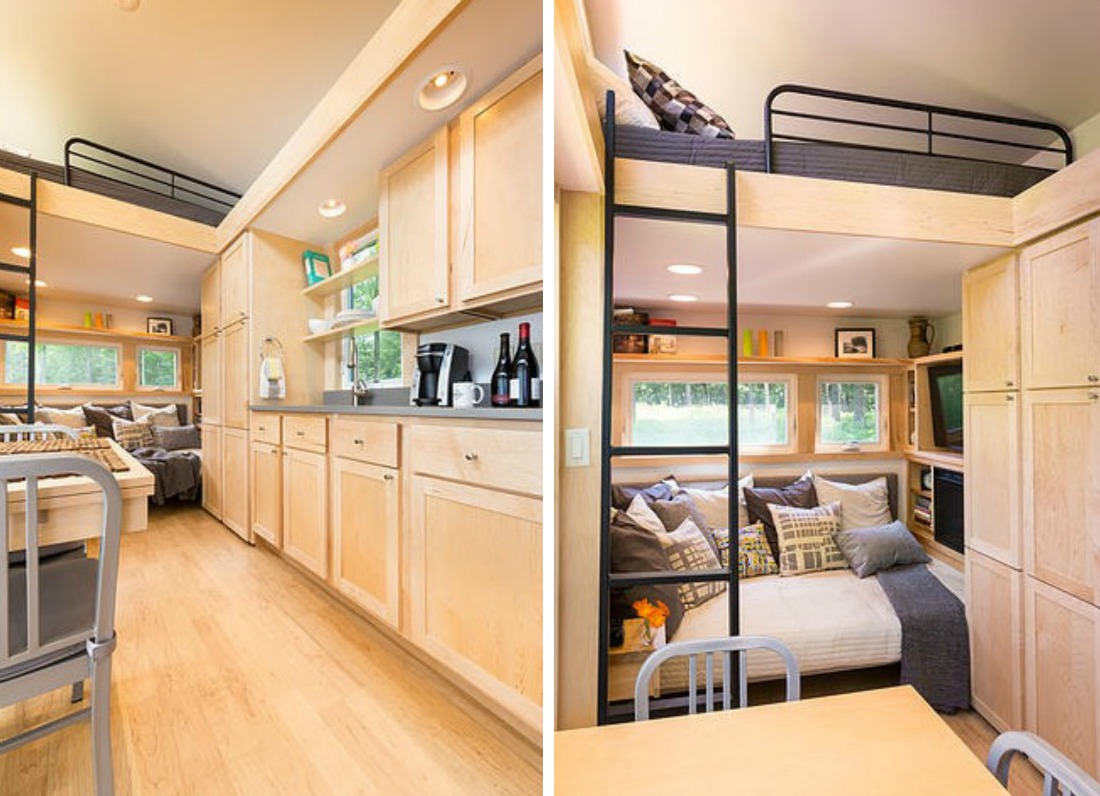 Tiny 269 Square Foot Mobile Home Finds Space For All Your