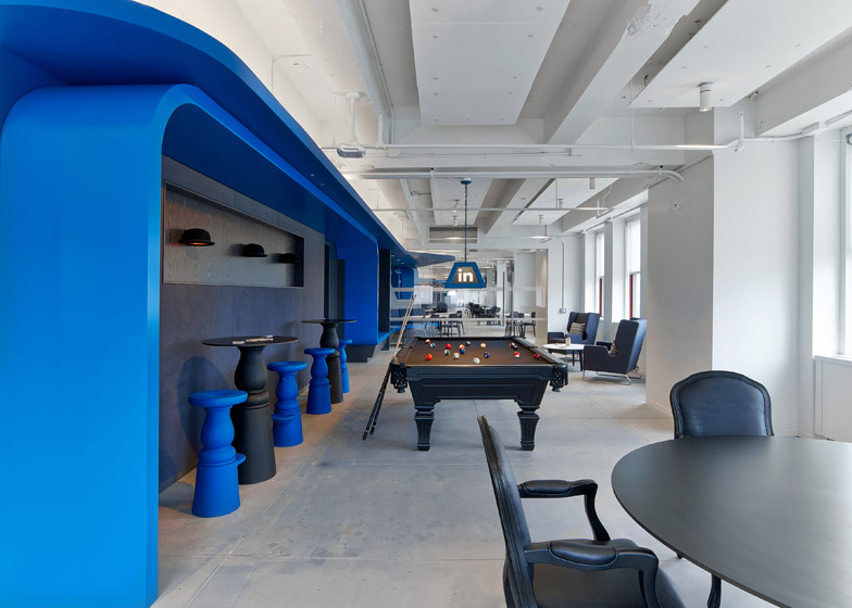 Linkedin 39 s remodeled offices have a speakeasy and plenty for Office interior design nyc