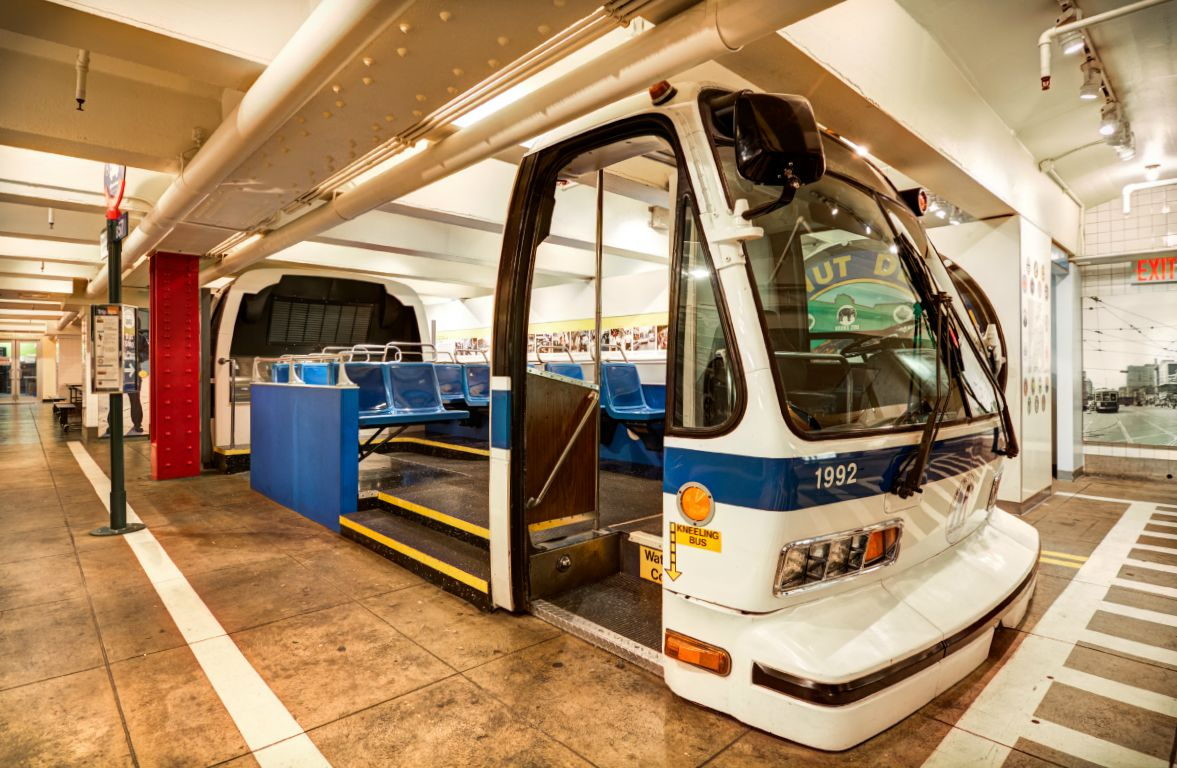 New York Transit Museum, vintage NYC buses, transportation history, Brooklyn museums