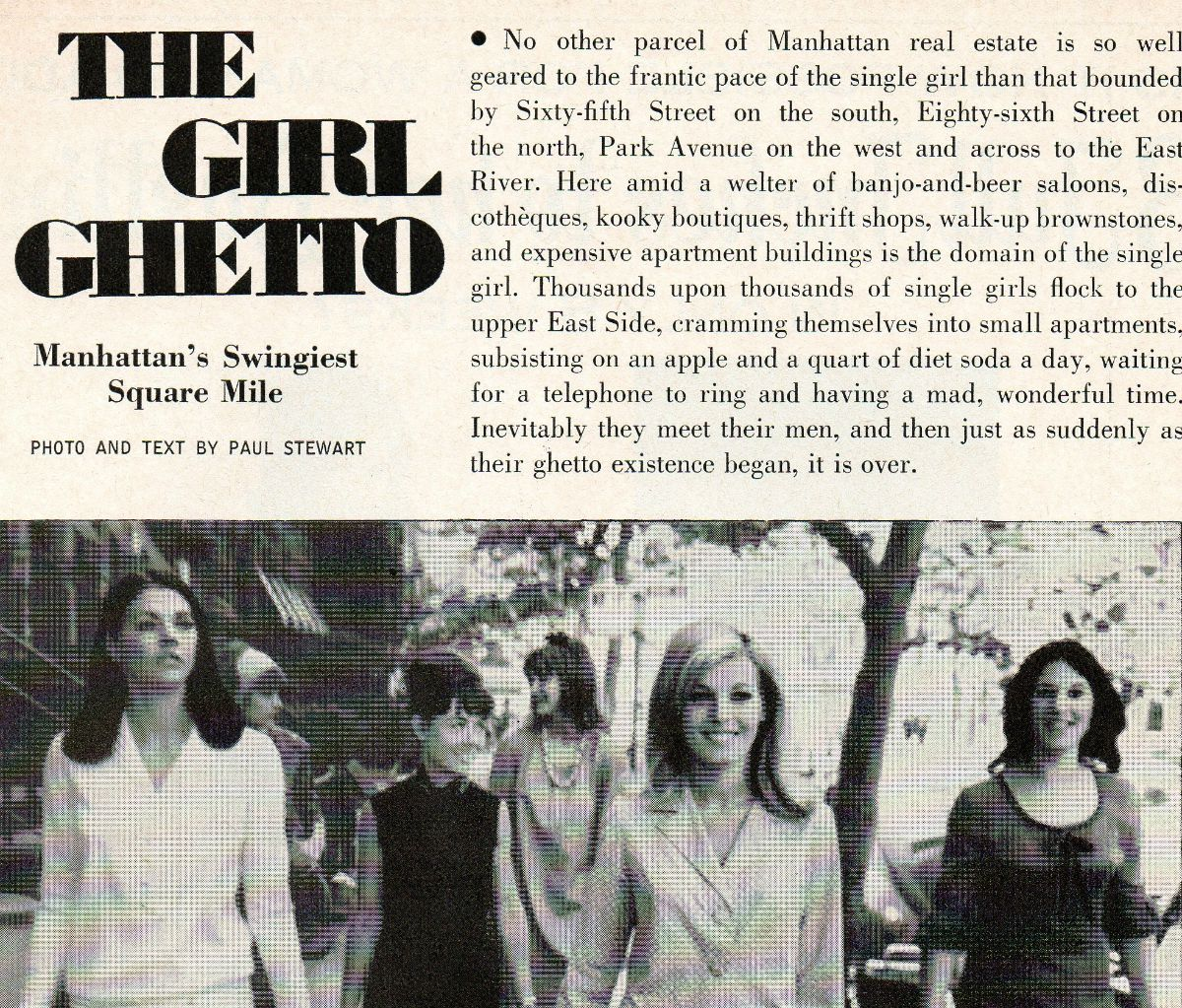 The Girl Ghetto, Upper East Side, New York in the 1960s