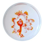 Vik Muniz, Tal Danino, bacteria printed plates, Paenibacillus and Salmonella, Bernardaud, Petri Dishes, porcelain tableware, MoMA Design Store,