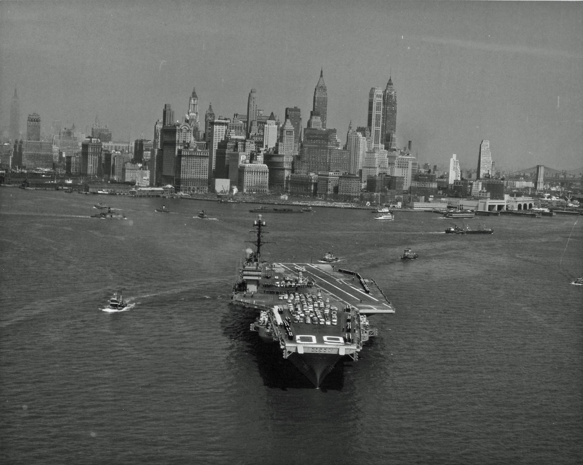 New York port, 1950s, 1950s New York