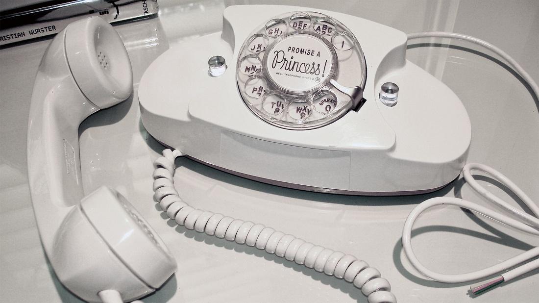 white princess phone, vintage phones